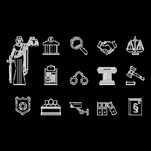 Gerichtssymbole ... Justitia etc.