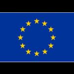 Europaflagge mit gelben Sternen