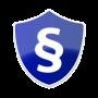 blauer Schild mit Paragrafenzeichen