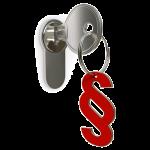 Paragrafenzeichen an Schlüsselanhänger